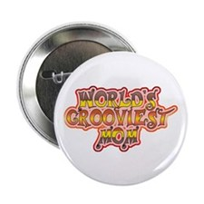 "World's Grooviest Mom 2.25"" Button (100 pack)"