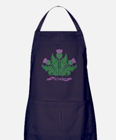 Cute Scottish thistle Apron (dark)