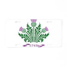 Unique Scottish Aluminum License Plate