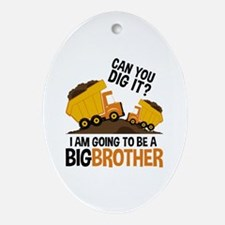 Construction Big Brother Oval Ornament