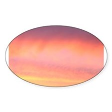 Pink Pretty Sky Oval Decal