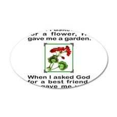 GOD GAVE ME YOU 22x14 Oval Wall Peel