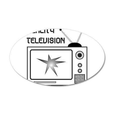REALITY TV 22x14 Oval Wall Peel