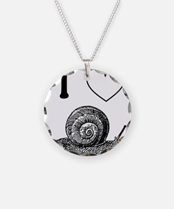 I HEART SNAILS Necklace