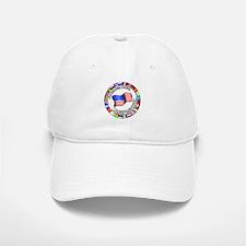 Circle of Flags and Pledge of Allegiance Baseball Baseball Cap