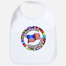 Circle of Flags and Pledge of Allegiance Bib