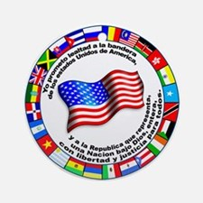 Circle of Flags and Pledge of Allegiance Ornament