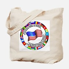 Circle of Flags and Pledge of Allegiance Tote Bag