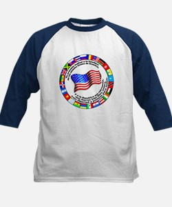 Circle of Flags and Pledge of Allegiance Tee