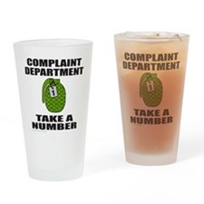 COMPLAINT DEPARTMENT Drinking Glass