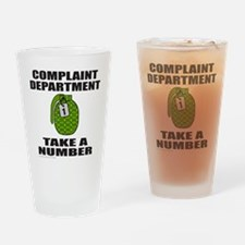 COMPLAINT DEPARTMENT Drinking Glass