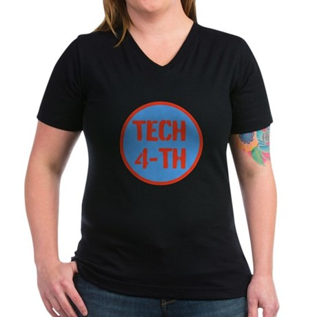 TLTH Women's V-Neck Dark T-Shirt