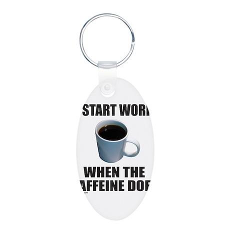 COFFEE LOVER/ADDICT Aluminum Oval Keychain