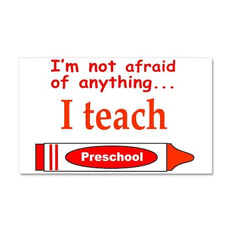 TEACH PRESCHOOL Car Magnet 20 x 12