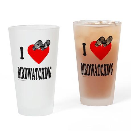 I HEART BIRDWATCHING Drinking Glass