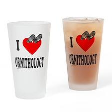 I HEART ORNITHOLOGY Drinking Glass