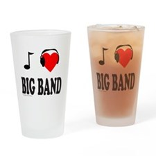 BIG BAND MUSIC Drinking Glass