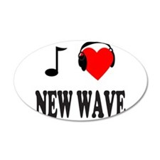 NEW WAVE MUSIC 22x14 Oval Wall Peel