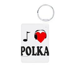 POLKA MUSIC Aluminum Photo Keychain