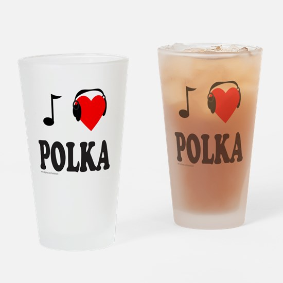 POLKA MUSIC Drinking Glass