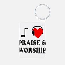 I HEART PRAISE & WORSHIP Keychains
