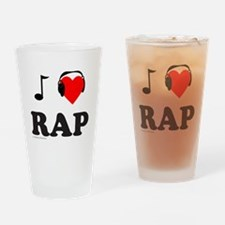 RAP MUSIC Drinking Glass