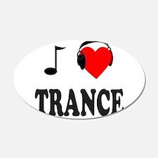 TRANCE MUSIC 22x14 Oval Wall Peel