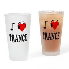 TRANCE MUSIC Drinking Glass