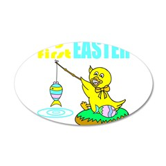 MY FIRST EASTER 22x14 Oval Wall Peel