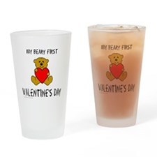 Cute First valentine%27s day Drinking Glass