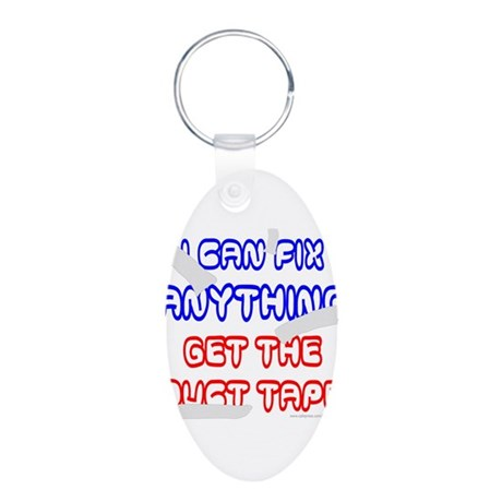 GET THE DUCT TAPE Aluminum Oval Keychain
