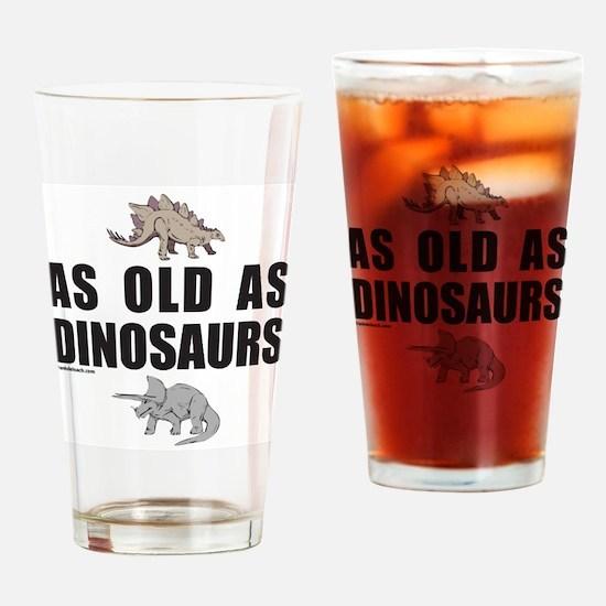 GETTING OLDER Drinking Glass