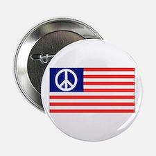 American Peace Flag Button