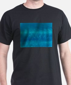 Blue Pretty Sky Black T-Shirt
