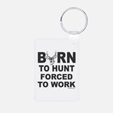 BORN TO HUNT Aluminum Photo Keychain