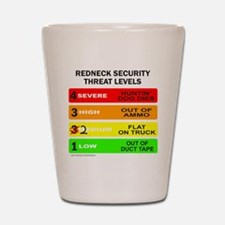 REDNECK SECURITY THREAT Shot Glass