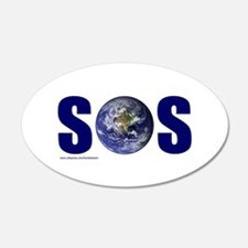 SOS EARTH 22x14 Oval Wall Peel