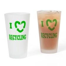 I LOVE RECYCLING Drinking Glass