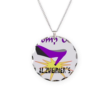 ALZHIEMER'S Necklace Circle Charm