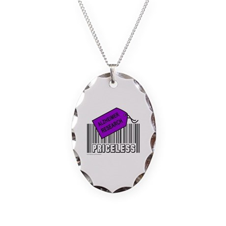 ALZHEIMER CAUSE Necklace Oval Charm