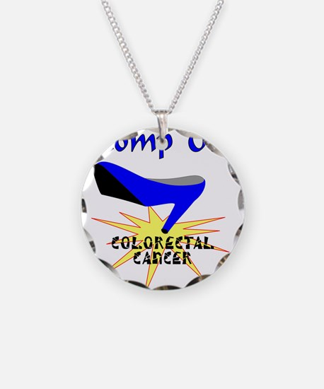 COLORECTAL CANCER Necklace Circle Charm