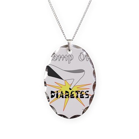 DIABETES AWARENESS Necklace Oval Charm