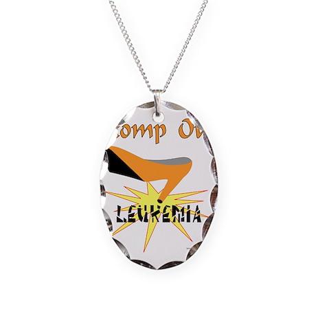 LEUKEMIA AWARENESS Necklace Oval Charm