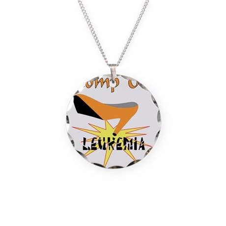 LEUKEMIA AWARENESS Necklace Circle Charm