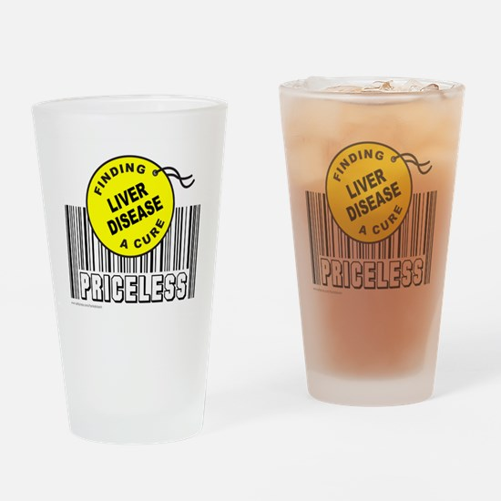 Cute Liver cancer awareness Drinking Glass