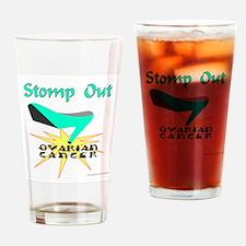OVARIAN CANCER AWARENESS Drinking Glass