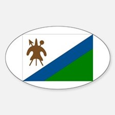 Flag of Lesotho Oval Decal
