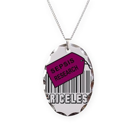 SEPSIS CAUSE Necklace Oval Charm