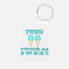 TWINS TWICE AS SWEET Keychains
