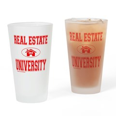 REAL ESTATE AGENT Drinking Glass